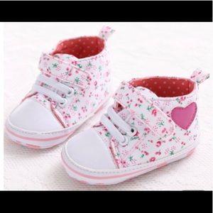 Baby Girls Soft Sole Flower Print Shoe